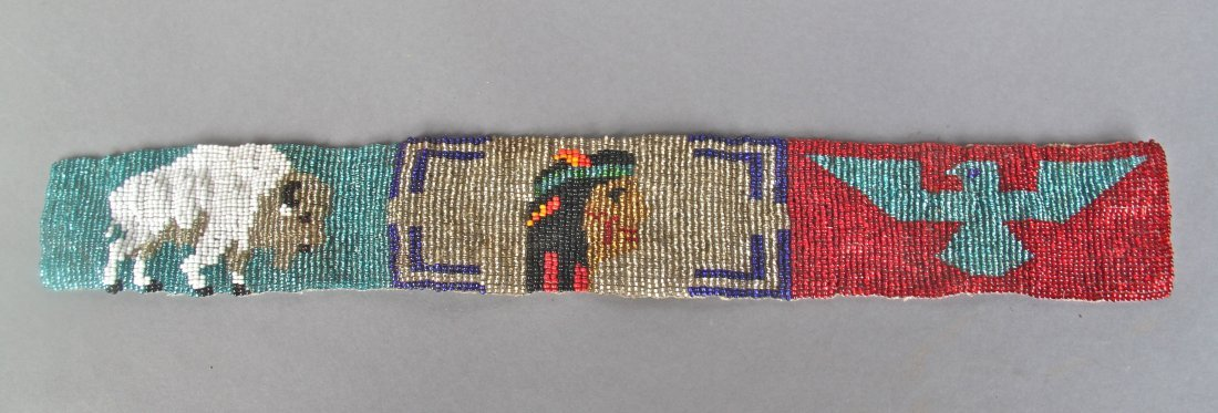 Native American Indian Antique, Hand Beaded Sache  …