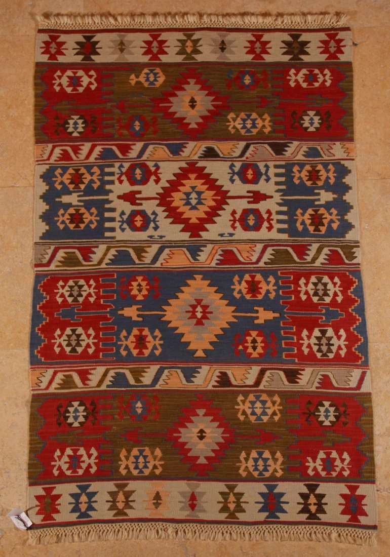 4: Denizli, Kilim, West Turkey, 100% handspun wool, mix