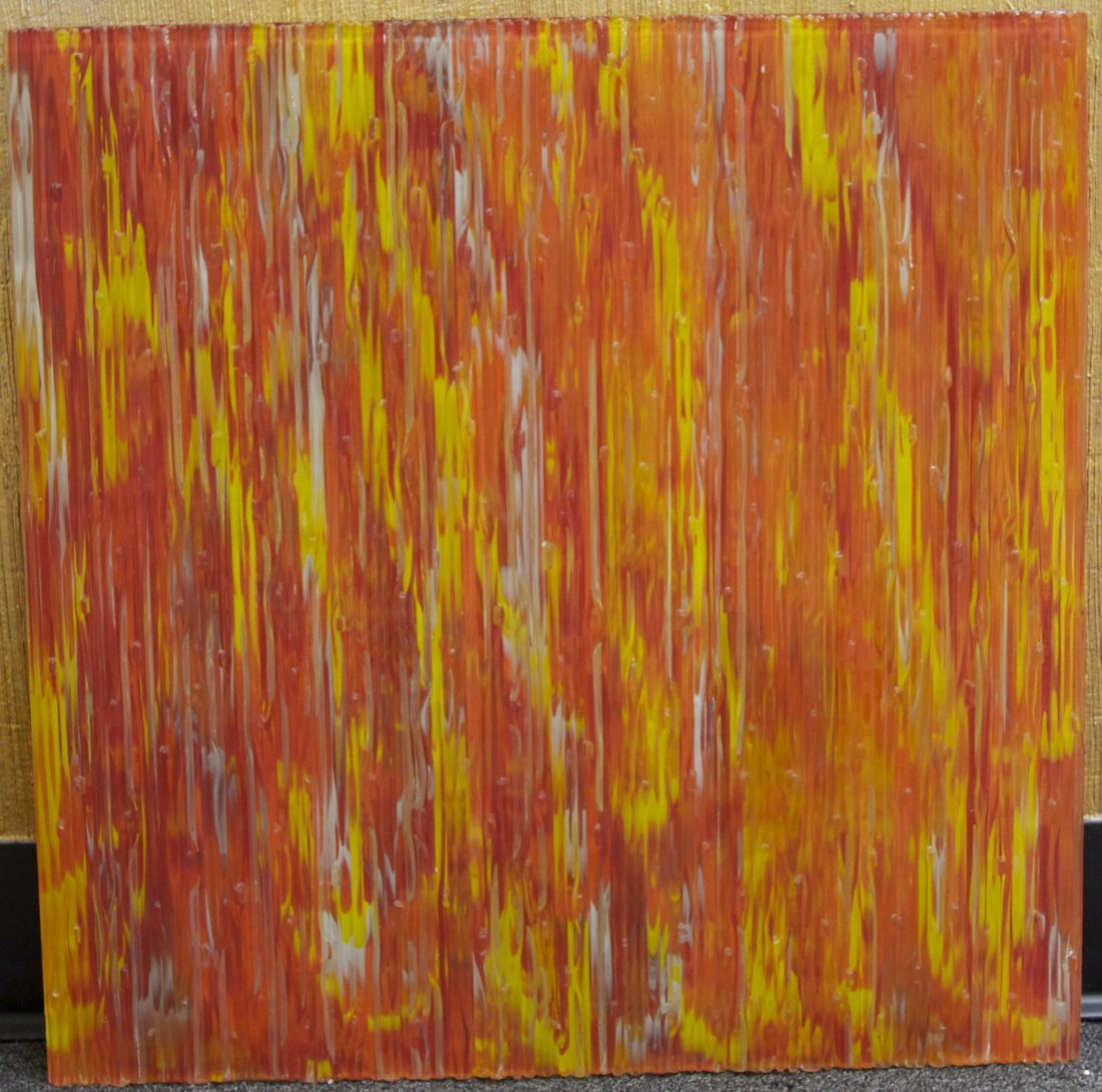 Andrew Pearson (Set of 2 Orange/Red/Yellow Glass Art