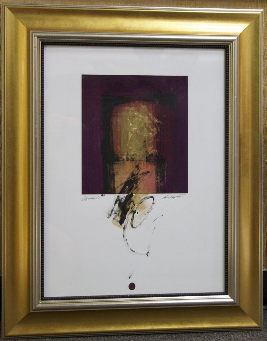 Hampton, Framed Painting, mixed media.  [10(lbs), 30.5(
