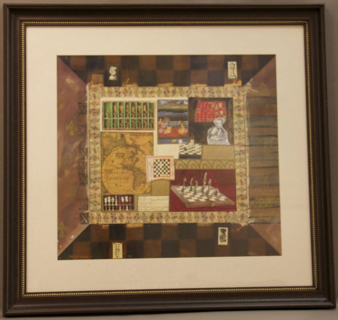 "K. Maas, ""Parlor Games 17"", Original Framed Painting, m"