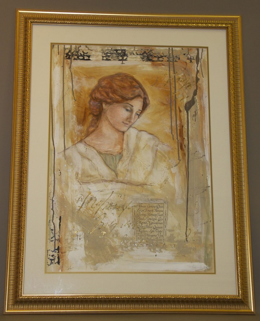 """R. Hoglund, """"Solo"""", Original Framed Painting, mixed med"""