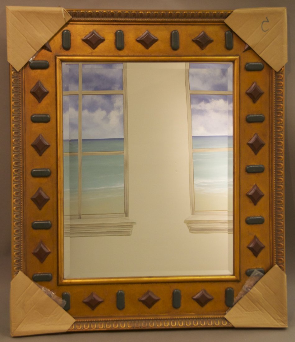 Decorative Mirror  [30(lbs), 44(in), 37.5(in), 1.5(in)]
