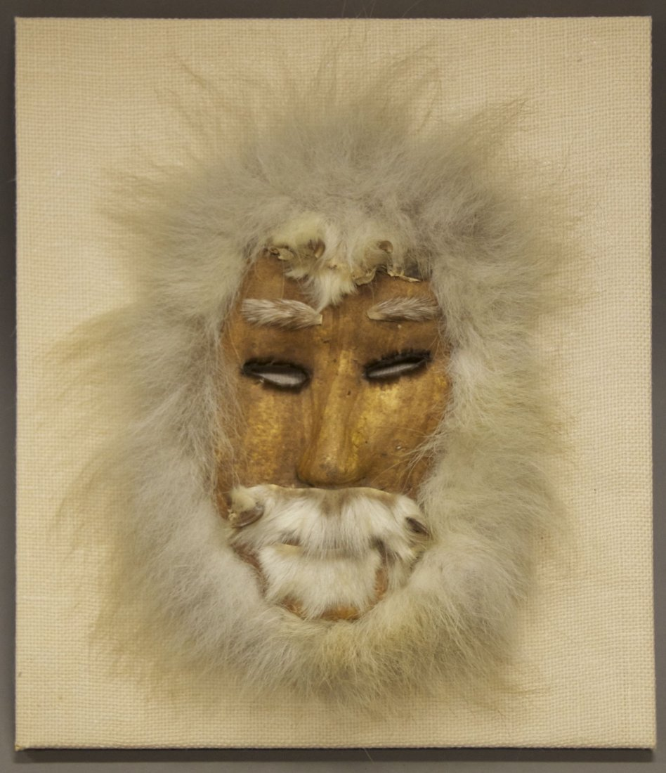 Inuit wolf hunting mask from early 1900's [< 5 (lbs), 1