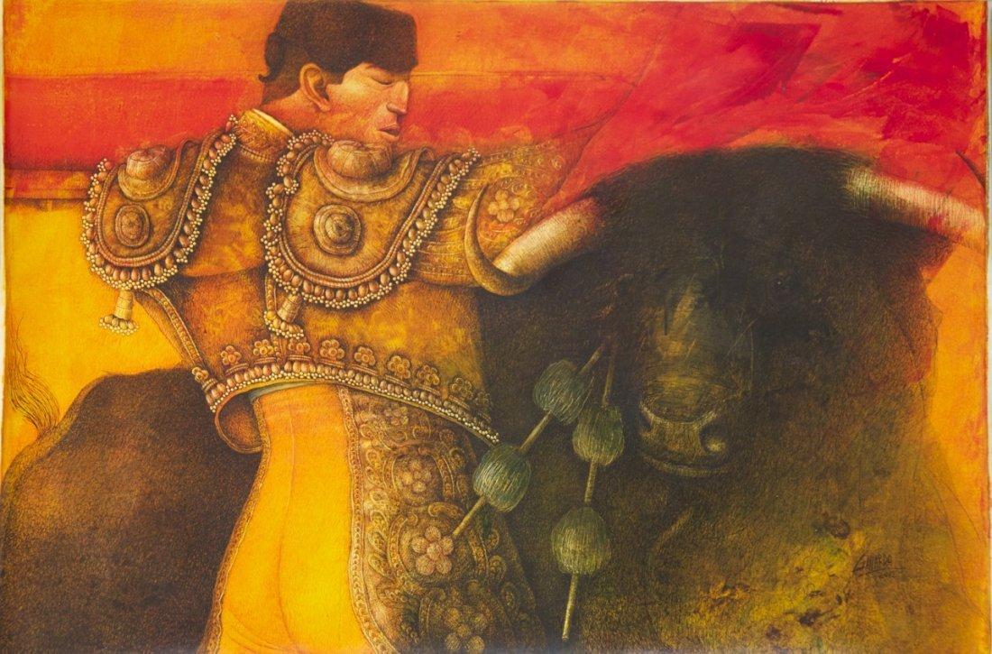 "Fernando Gallardo, (Peruvian 20th Century), ""Toreando P"
