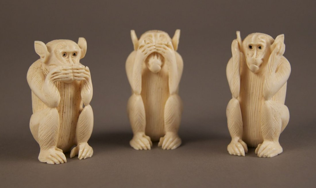 Ivory collection of Monkey's.  See no evil, hear no evi