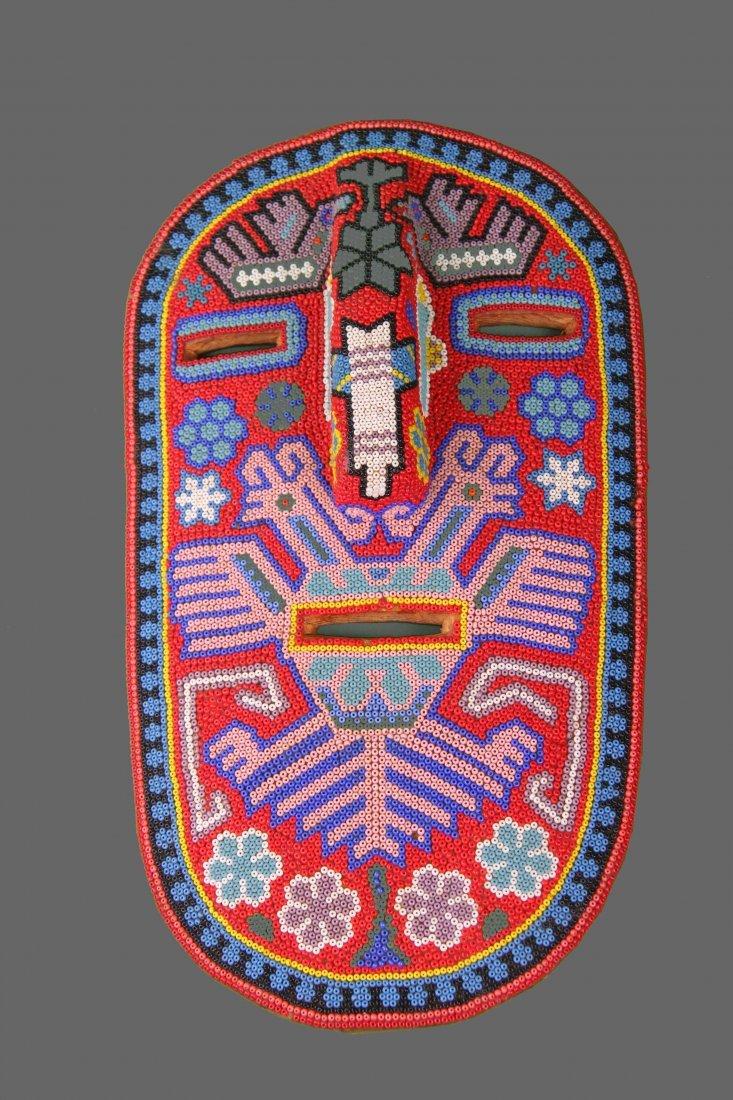 Early 1900's Beaded Tribal Mask, Native American