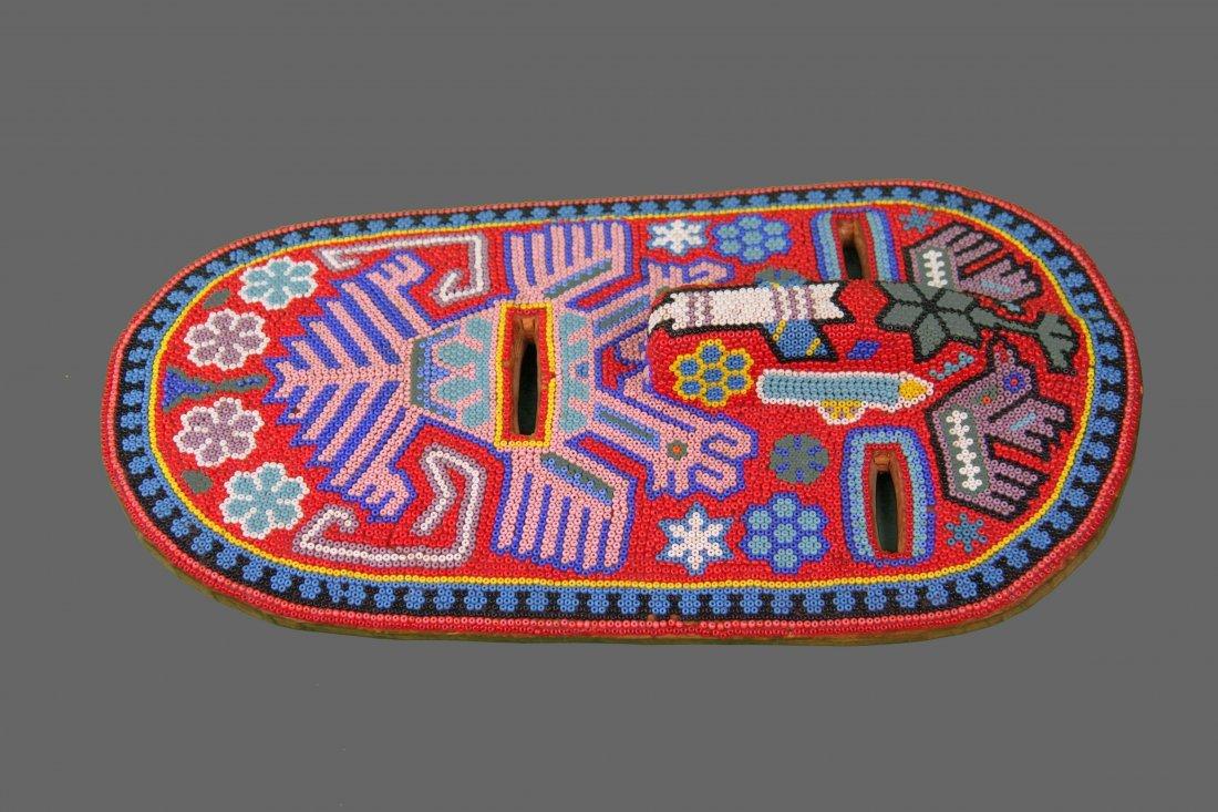 Early 1900's Beaded Tribal Mask, Native American - 2