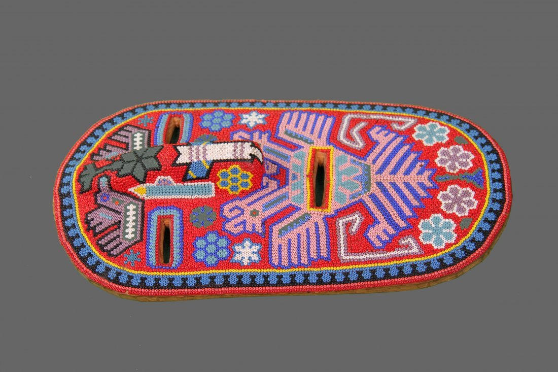 Early 1900's Beaded Tribal Mask, Native American - 3