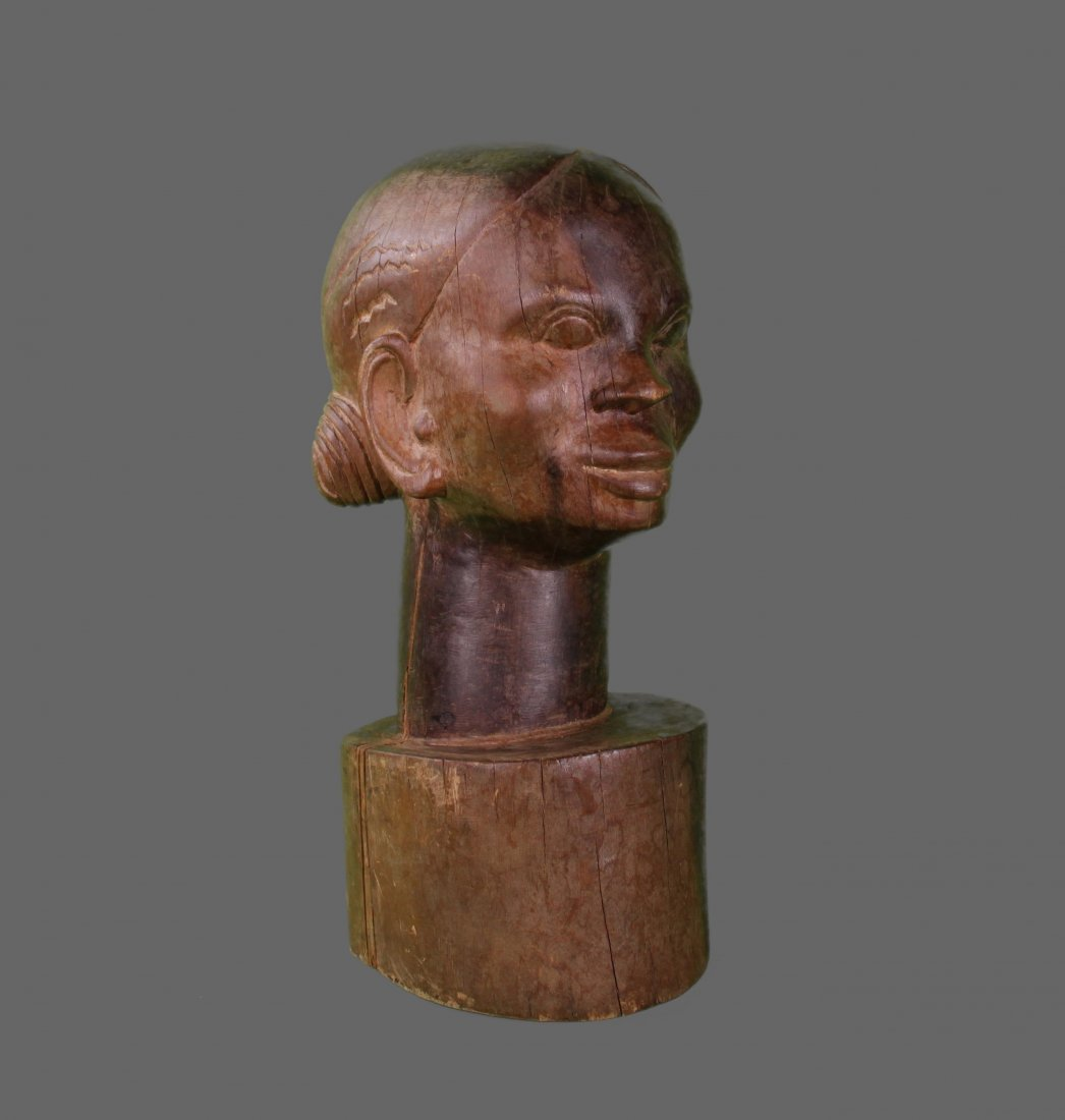 African Hardwood Carving of a woman.   (Size:  See Last