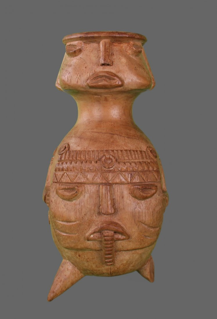 Early 1900's Wood Carving Pre-Columbian Style Figure