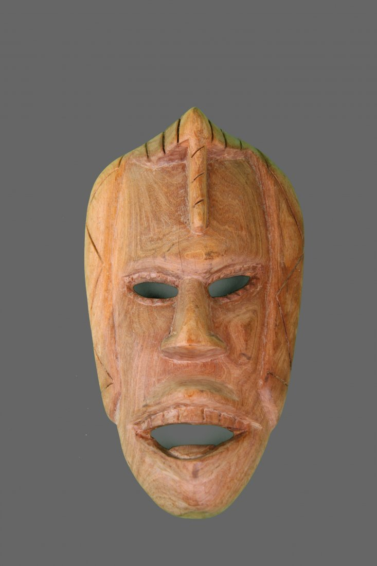 Wood Carved African Tribal Mask   (Size:  See Last