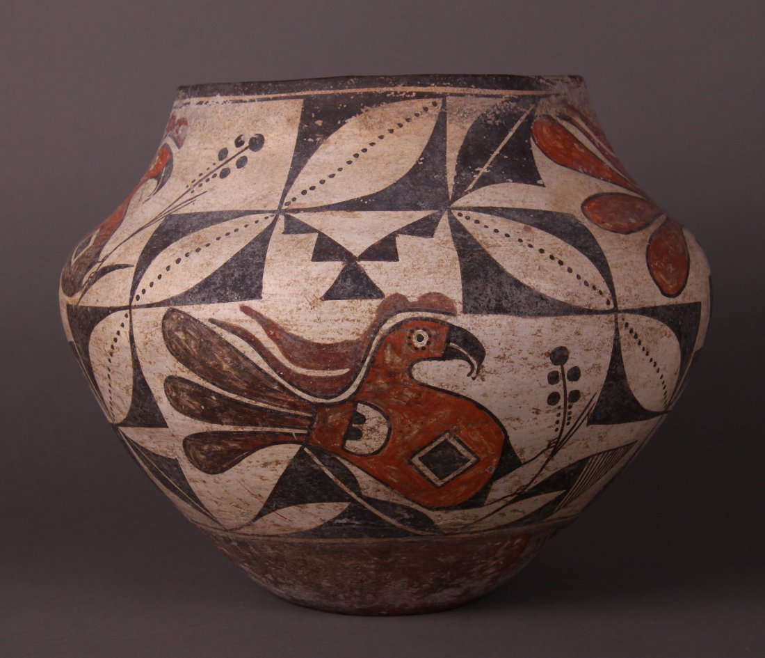Southwest Polychrome Pottery Olla, Acoma, Early 18th
