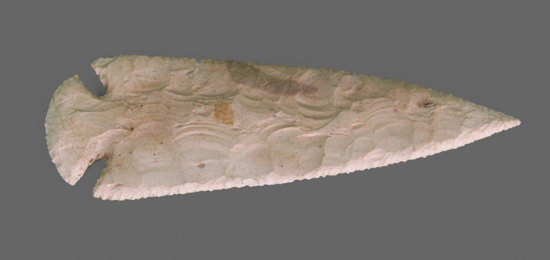 Stone spearhead artifact, Native American Indian.  See