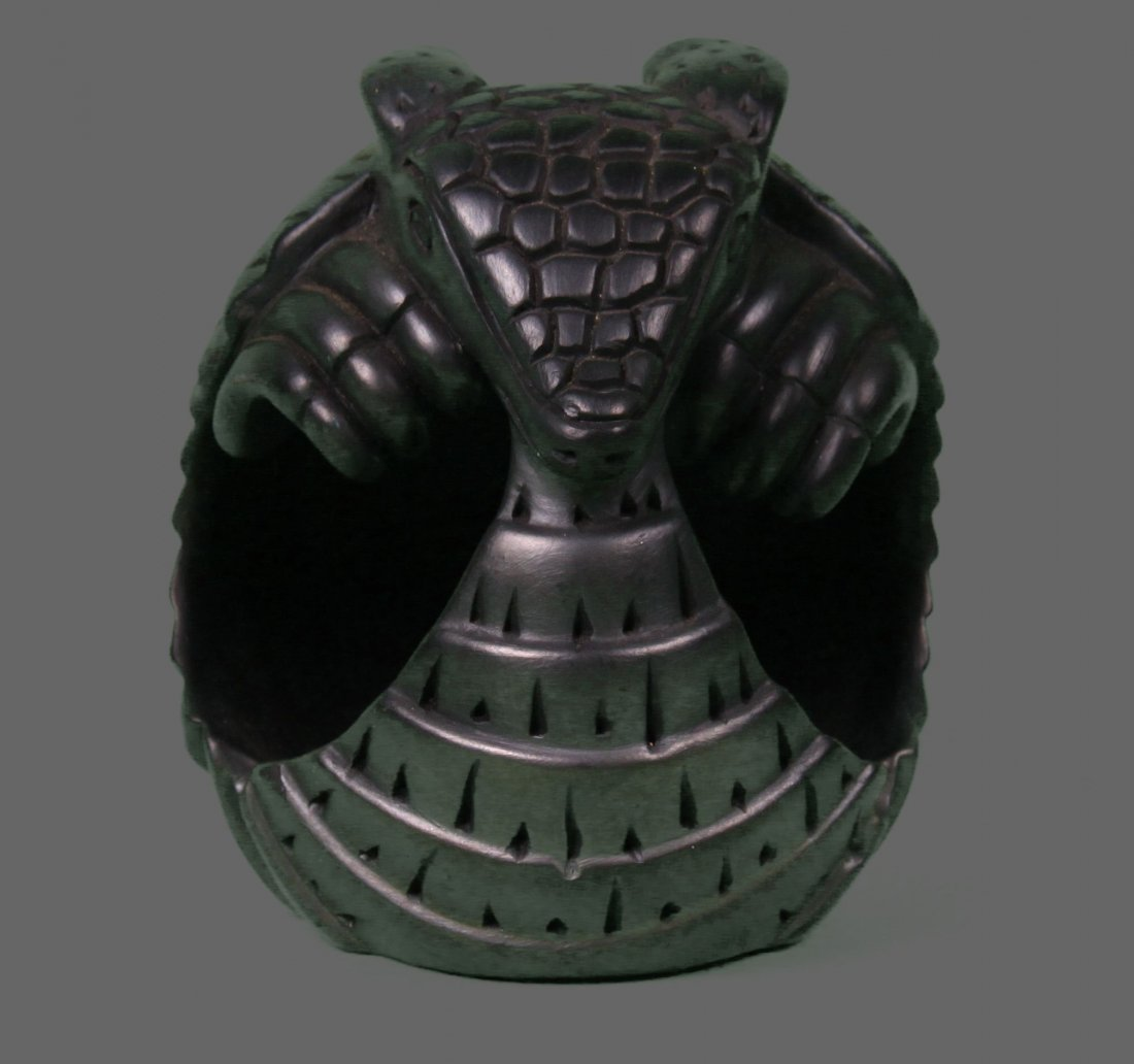 Armadillo black pottery, Argentina.