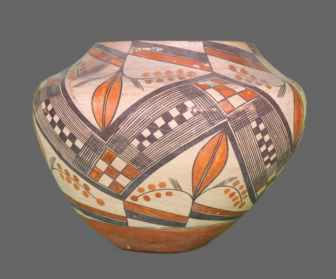 Southwest Polychrome Pottery Olla, Acoma, c. 19th