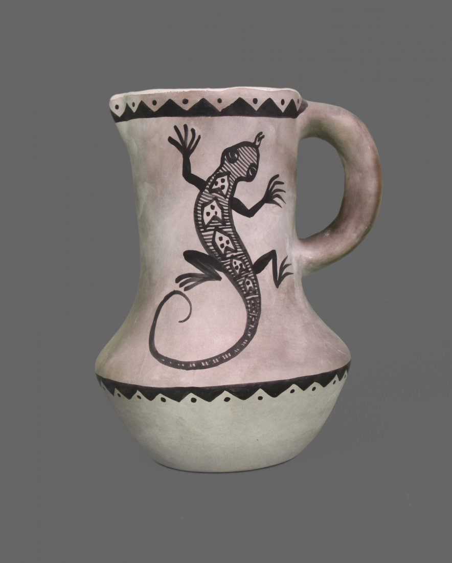 Davied Israel, Native American Pottery White with Snake