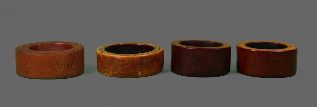 Four (4) Large African Ivory Bangle Bracelet Very - 4