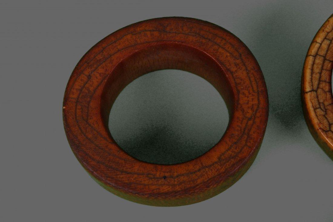 Four (4) Large African Ivory Bangle Bracelet Very - 5