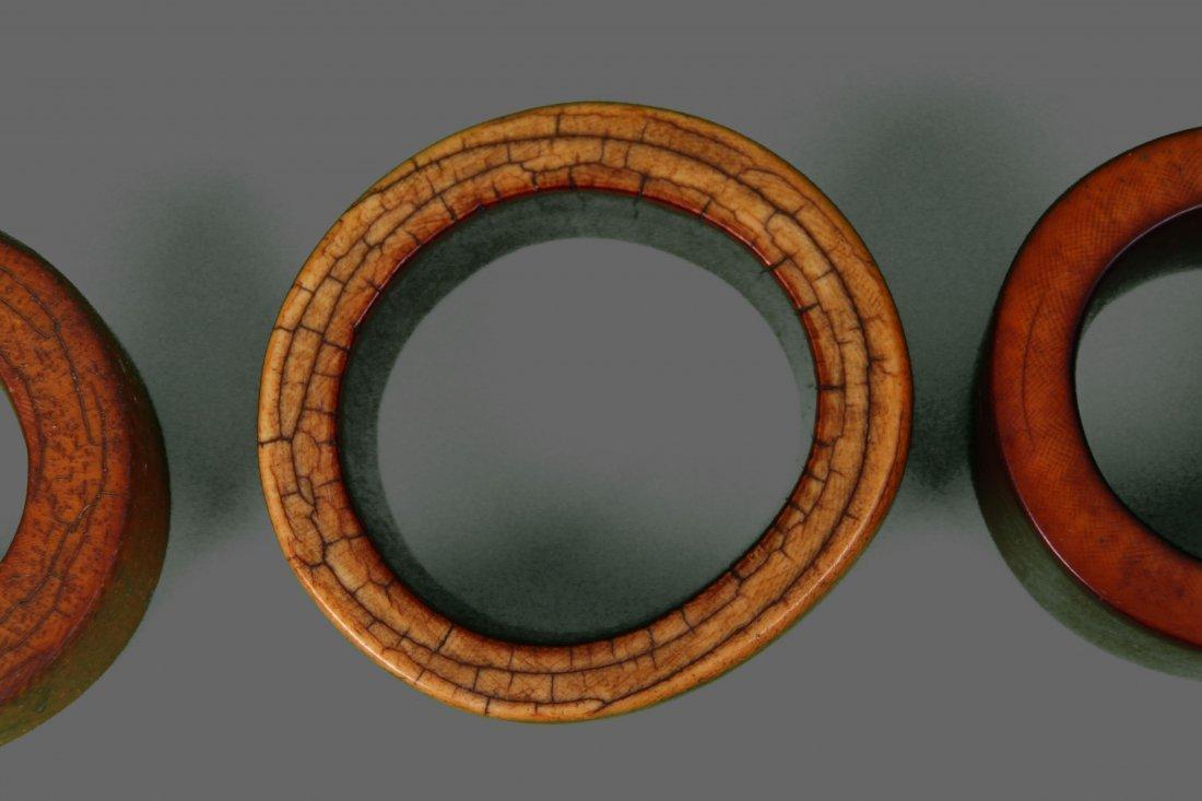 Four (4) Large African Ivory Bangle Bracelet Very - 6