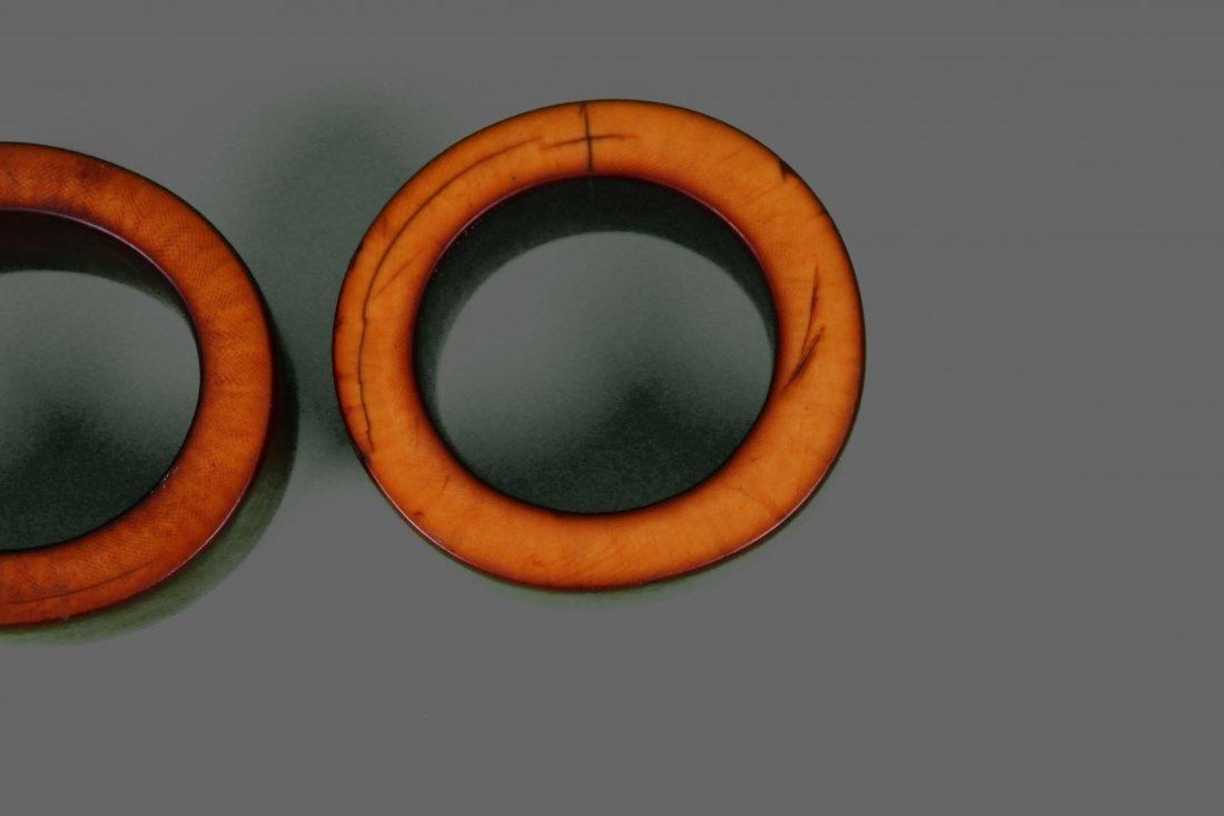 Four (4) Large African Ivory Bangle Bracelet Very - 8
