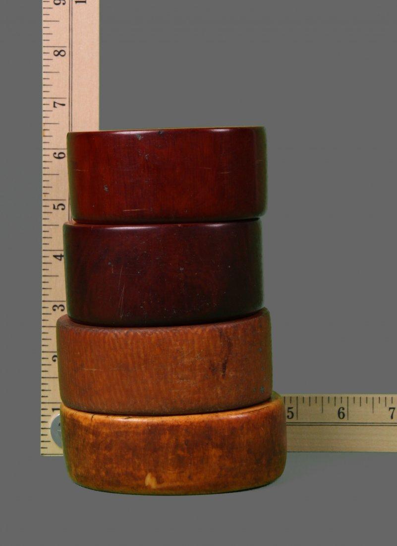 Four (4) Large African Ivory Bangle Bracelet Very - 9
