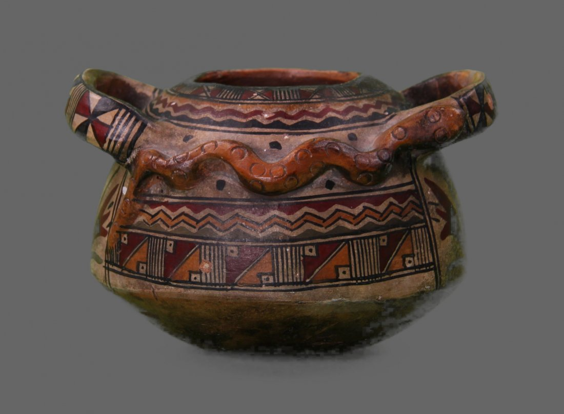 Native American Indian Hand Painted Pottery.  Unknown