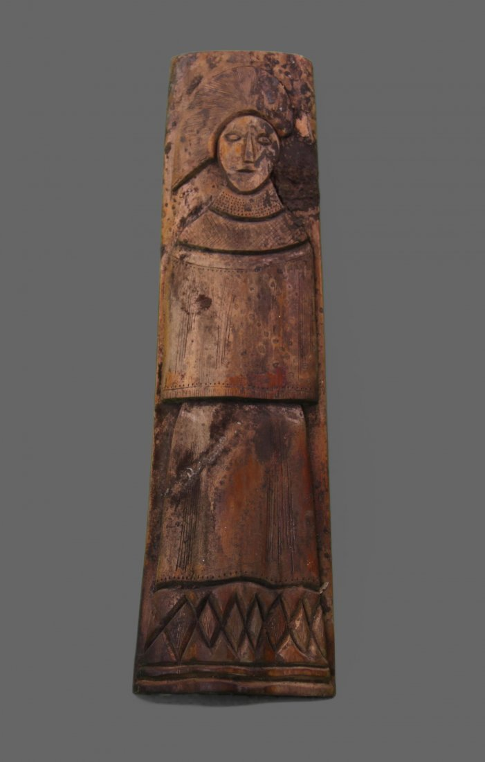 Antique wood carving, unknown origin. (Size: See last
