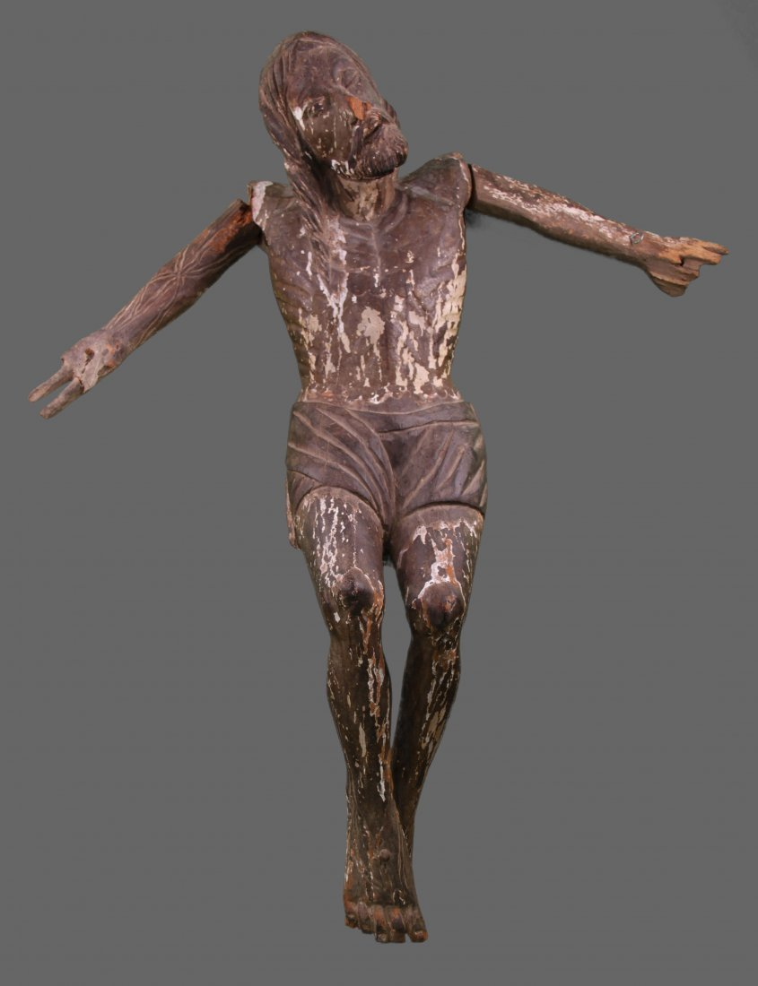 Early 1800's crucifixion of Christ, (Spain). Discovered