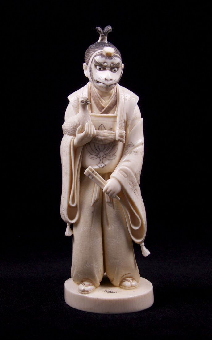 """""""The Actor"""", a museum quality Japanese pre-ban Ivory"""