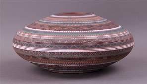 "Large Navajo Seed jar pottery. Signed ""Susie Charlie"