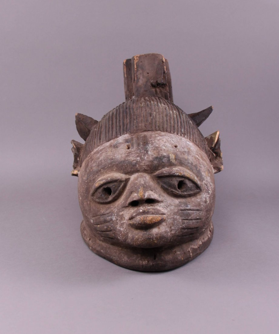 Antique Authentic African Tribal Mask.  Provenance: