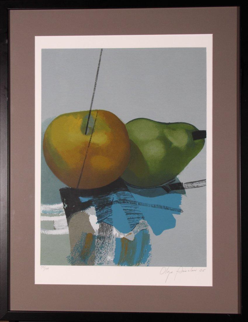 """Olga Sinclair, """"Pears"""" 1999 #1/77, 24inches x 38"""