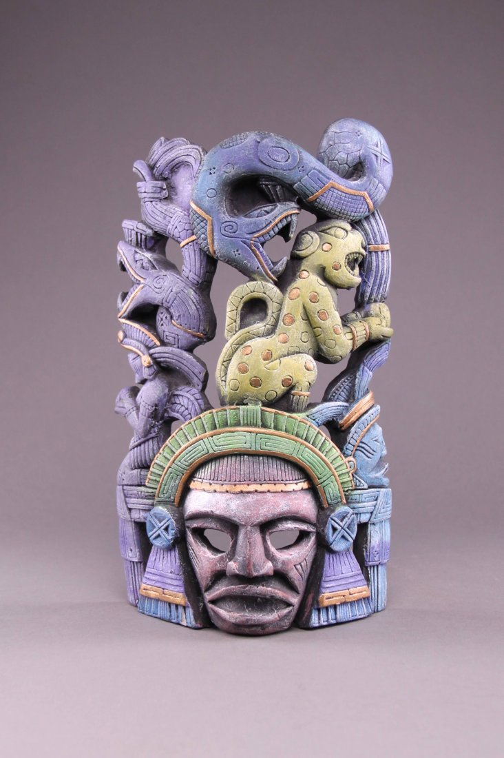 Mid century Mexican pottery wall hanging. (Size: See