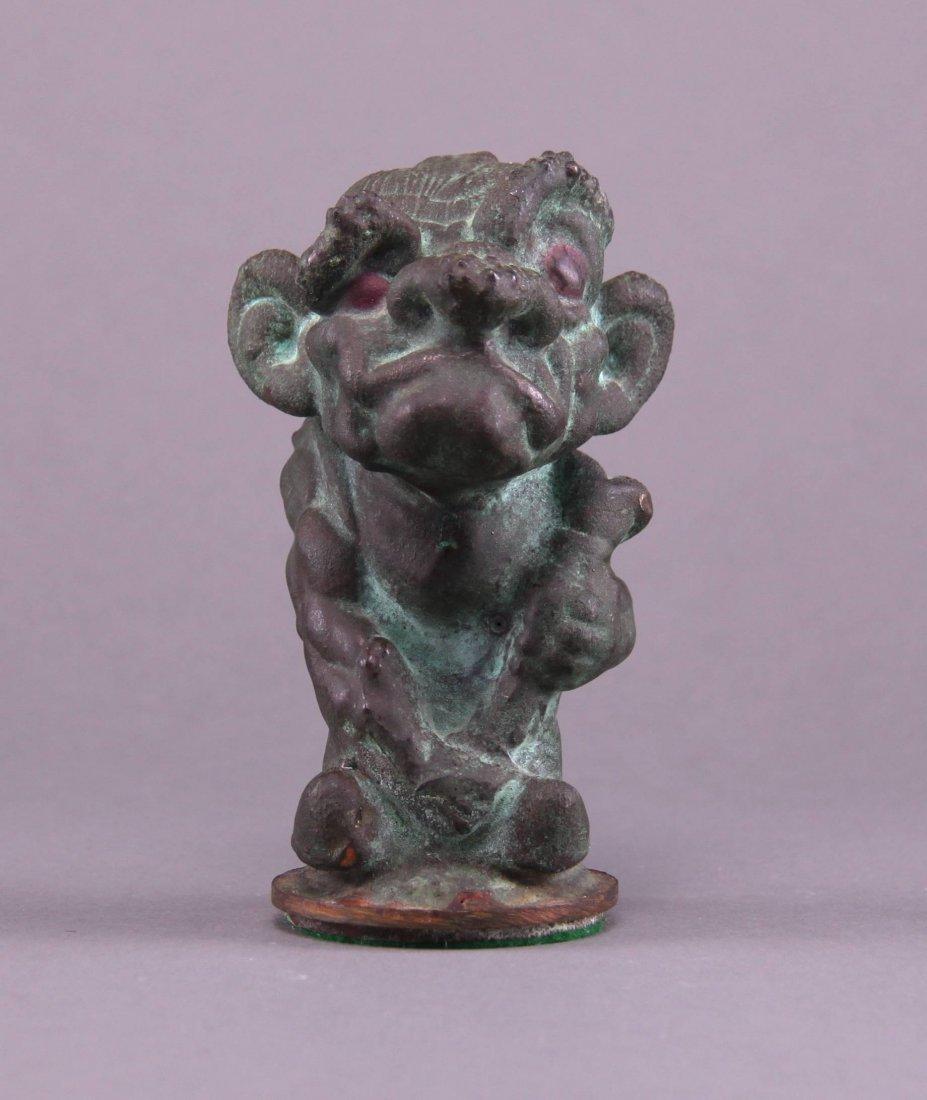 Early 1900's, Rare Hunchback bronze figure.  Origin