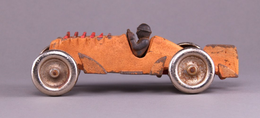 Hubley, cast iron racer with twelve articulated pistons