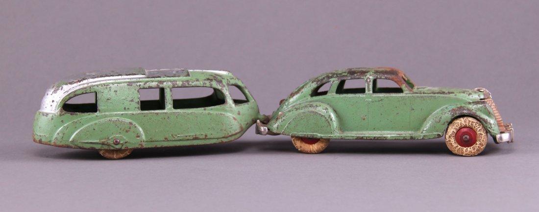 Hubley, cast iron, Lincoln Zephyr sedan, pulling