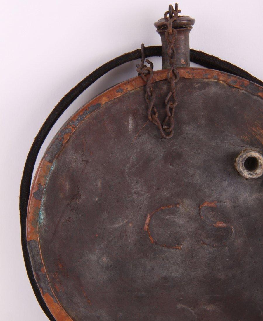 Antique Civil War Confederate Army copper canteen - 3