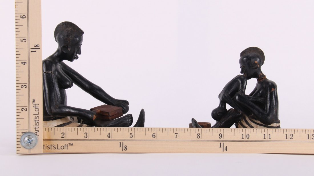 Two (2) African erotic ceramic sculptures (unknown - 2