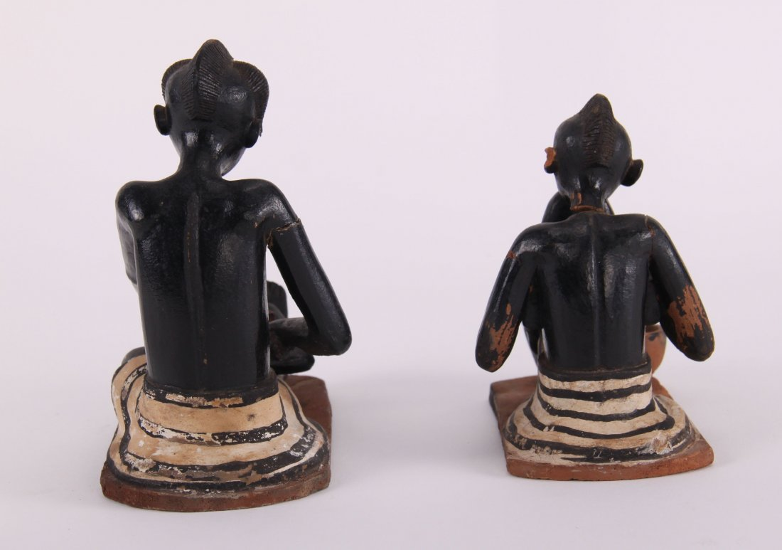 Two (2) African erotic ceramic sculptures (unknown - 4