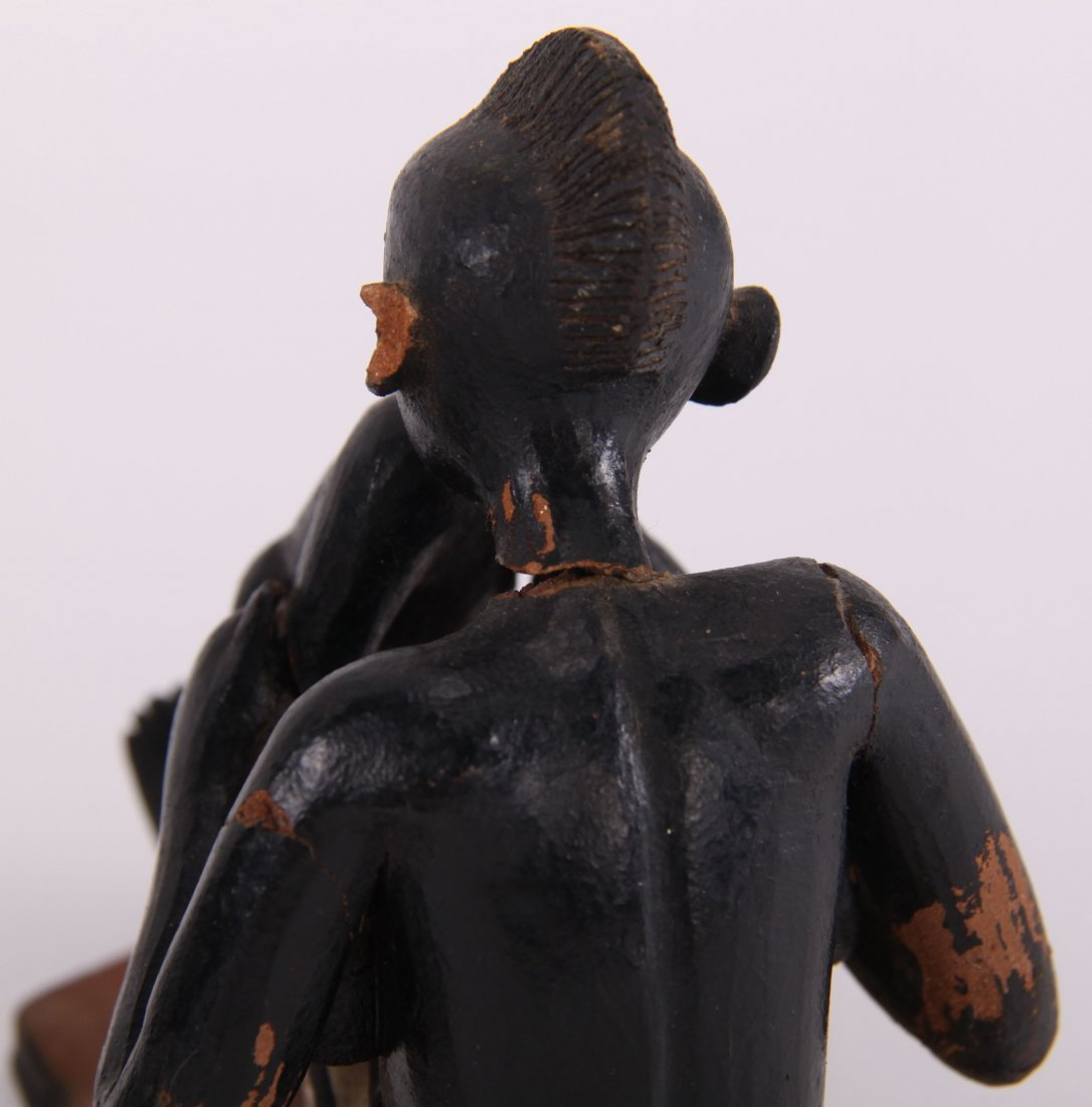 Two (2) African erotic ceramic sculptures (unknown - 5