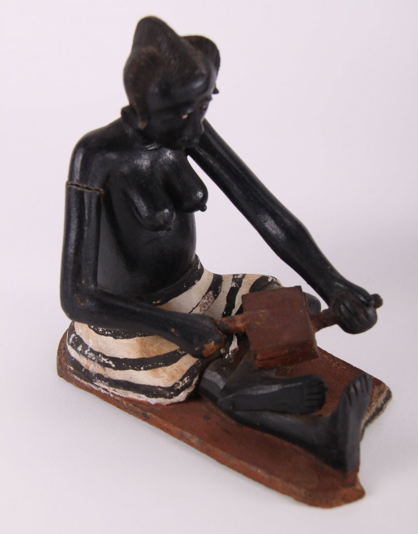 Two (2) African erotic ceramic sculptures (unknown - 8