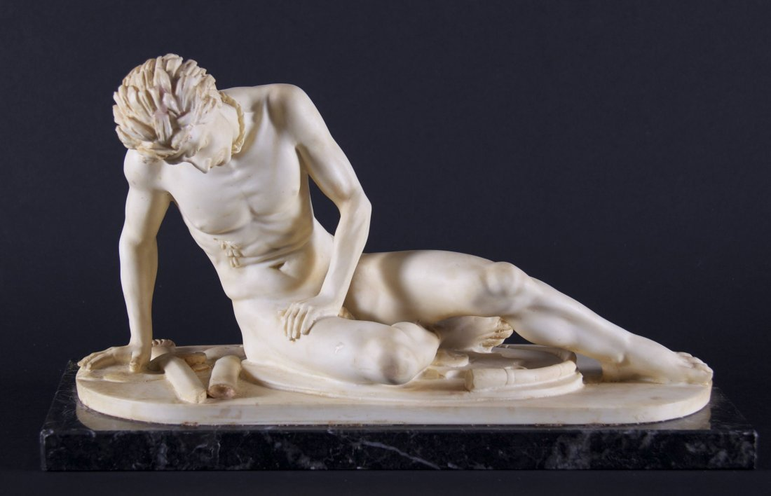 """""""The Dying Gladiator"""", a Santini composite sculpture"""