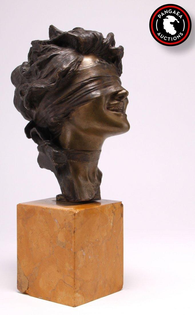 Giuseppe Renda (1862-1939), bronze head of a blind