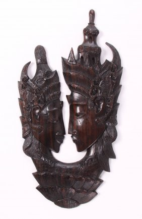 Rama & Sita Balinese Wood Carving. When Sita Reaches
