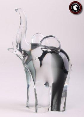 Nason, Murano Blown Glass Elephant. Signed On Base