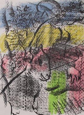 Marc Chagall Original Lithograph For Xx Siecle #34 1970