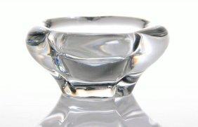 Vintage French Daum Glass Dish, Paris France. Size: Se