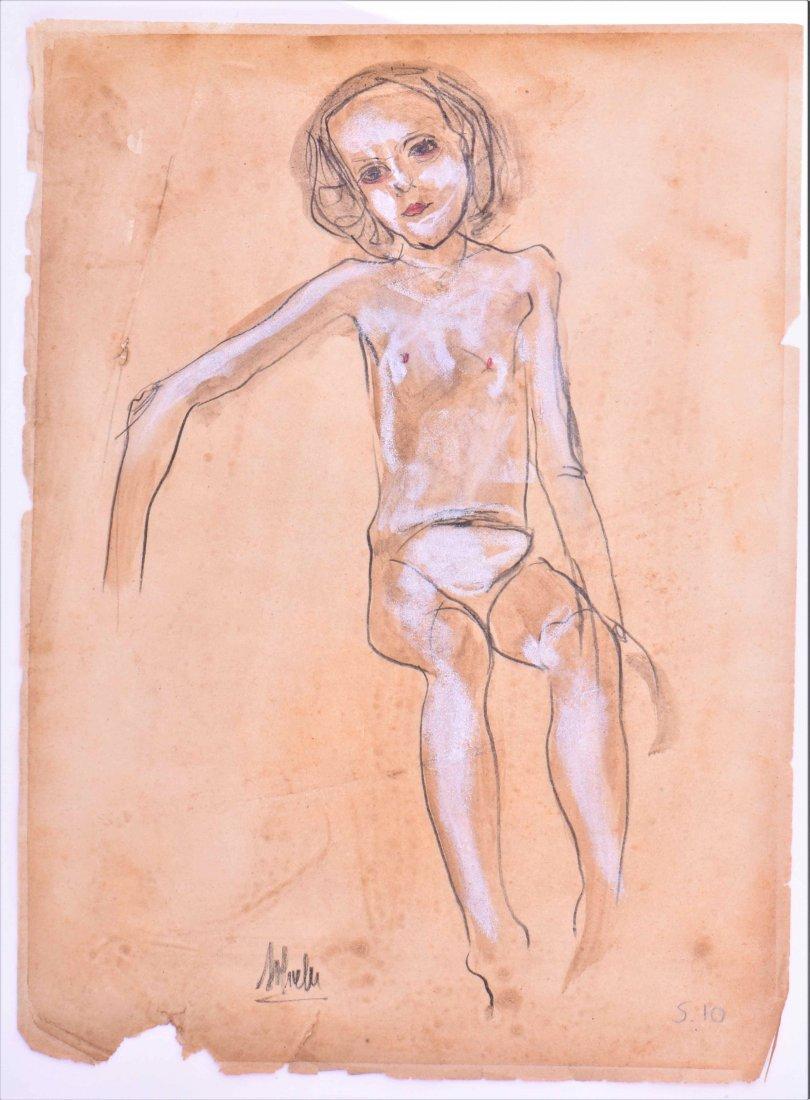 Egon Schiele (1890-1918) Original pencil signe
