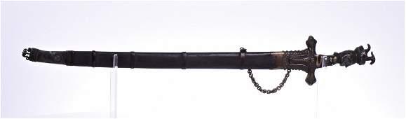 Antique Mughal Empire Damascus Steel Sword Wit